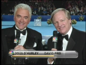 Purina National Dog Show hosts John O'Hurley and David Frei